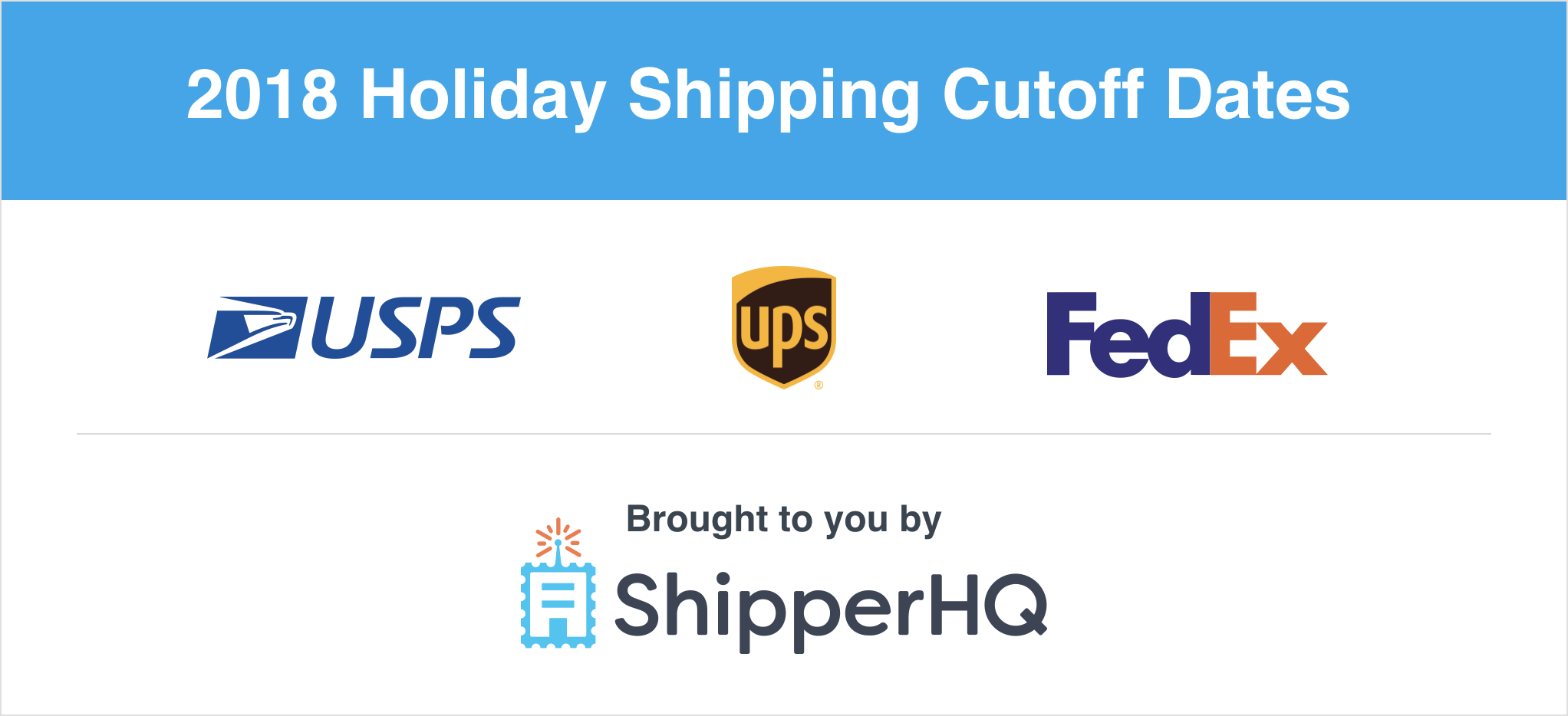 2018 Holiday Shipping Cutoff Dates
