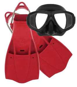 Dive Gear Express Flippers and Mask