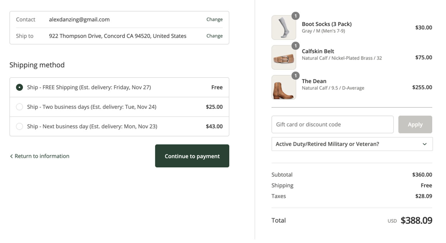 Tecovas, a ShipperHQ customer, shows delivery dates at checkout. Shipping Insights lets them know exactly what dispatch date is needed to meet the delivery date shown to customer at checkout.